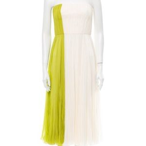 J. Mendel silk two toned knee-length dress